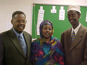 LOCAL SOMALI LEADERS WORKING AT THE SCHOOL
