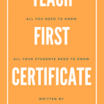 Teach First Certificate